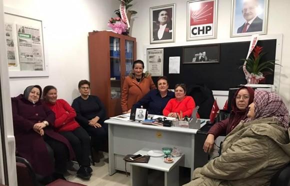 Tirebolu CHP Kadın Kolları'nda görev bölümü