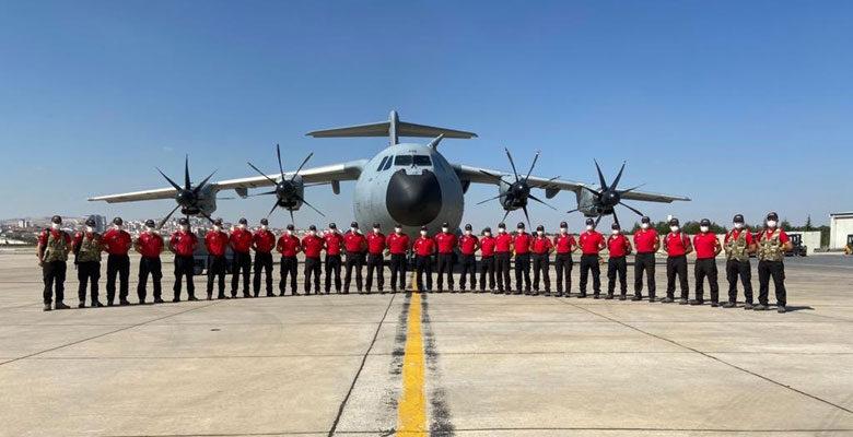 Hava Kuvvetlerinden afet bölgesine destek