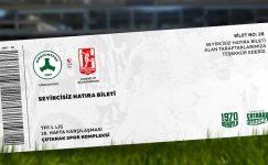 Tarihi maçın hatıra biletleri satışa çıktı