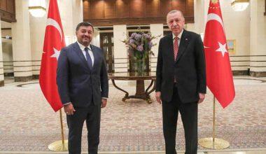 Şenlikoğlu Cumhurbaşkanı Erdoğan ile görüştü